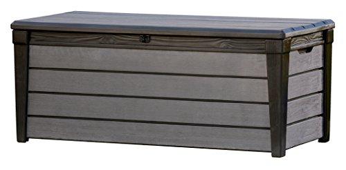 Keter - Arcón exterior Brushwood WLF, Capacidad 455 litros, Color marrón