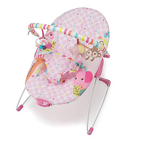 HWQ Vibrating Rocking Chair Swing, Newborn Baby Rocking Chair, Calm Vibration, Pearl Cotton + Steel Tube + Abs Tuch Removable and Washable, Suitable for Birth