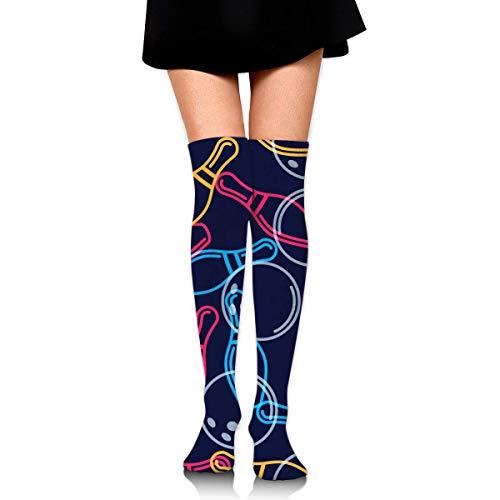 GYHJH Hohe Socken Bowling Bowling Ball Sport Socken Oberschenkel Hohe Socken