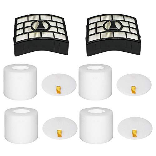 2 HEPA + 4 Foam Filters for Shark Rotator APEX DuoClean Powered Lift-Away...