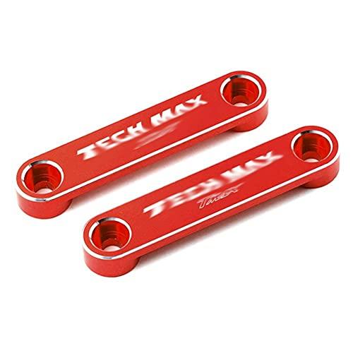 / Fit for - Y-AMA-HA T Max TMAX 560 Techmax 2020 2021 Tmax560 Accessori in Alluminio Assale Anteriore per Moto Assale Assale Telaio Piastra Laterale Decorativa (Color : Tech Max Red)
