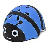LIUKLAI Casco Infantil de Dibujos Animados Abeja monopatín Casco Equilibrio Coche Seguridad Casco-Azul