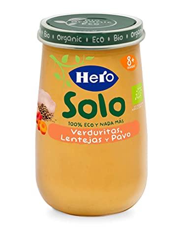 Hero Solo Tarrito de Verduritas, Lentejas y Pavo Ecológicos 190g