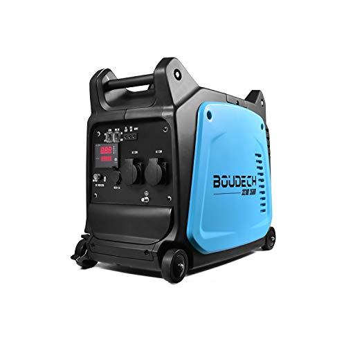 BOUDECH - Zeus 3500 - Generatore Digitale ad Inverter Professionale da 3KW/6HP con Motore OHV 4 Tempi 152cc Gruppo elettrogeno a Risparmio energetico da 3500W
