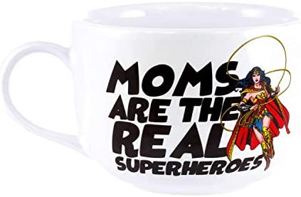 Wonder Woman Superhero Mom 15oz Ceramic Latte Mug product image