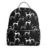 Sighthounds Mochila negra para hombres y mujeres, mochila de hombro, mochila de viaje para adolescentes, mochila casual para viajes