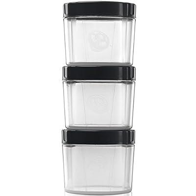 Alpha Pod Pack of 3 - Convenient Supplement Storage (Black/Clear)