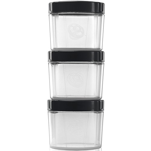 Alpha Pod Pack of 3 - Convenient Supplement Storage (Black/Clear)