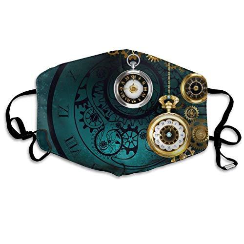 Antike Uhr mit Goldketten Gesichtsabdeckung Mundabdeckung