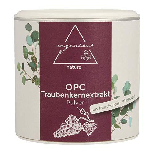 ingenious nature® Laborgeprüftes OPC Traubenkernextrakt Pulver - hochdosiert, 71{dcc11c434a6995c9288b7abc565ab710c7c1e9cf87de4ca50ba0629af824e9a5} OPC Gehalt nach HPLC. Höchster OPC Gehalt auf dem Markt. (60g)