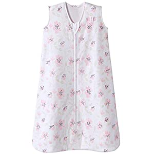 crib bedding and baby bedding halo sleepsack cotton wearable blanket, wildflower blush, x-large