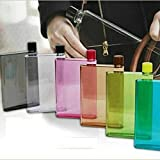 Global Craft A5 Size Memo Bottle/Notebook Style Flat and Ultra Slim Portable Bottle