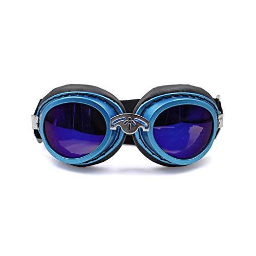 Pet Augenschutz Zubehör Faltbare Sonnenbrille Sonnenbrille Spezielle wasserdichte Schutzbrille Wasserdicht Winddicht Nebel Beständig Geeignet Für Große Und Mittelgroße Hunde,Blau