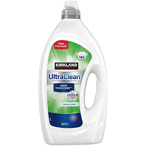 Kirkland Signature Ultra Clean Bio Detergente de lavandería combate manchas 142 lavados - 5l