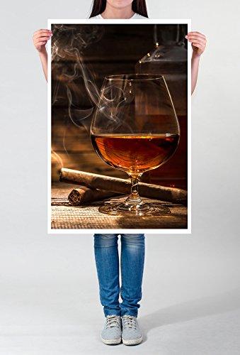Best for home Artprints - artistieke fotografie - cognac en sigaren - fotodruk in haarscherpe kwaliteit POSTER 90x60cm