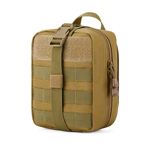 Gonex MOLLE Medical Pouch EMT First Aid Pouch Rip-Away IFAK Tactical Utility Pouch for Outdoor Activities Medical Supplies (Bag Only), Tan