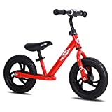 JOYSTAR 12 Inch Balance Bike for Boys & Girls 2 3 4 5 Years Old, Toddler Push Bike with Footboard & Handlebar Protect Pad, Child Glider Cycle, Kids Slider, Red