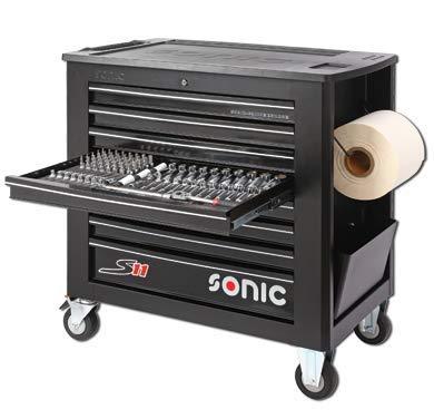 Sonic Equipment Werkstattwagen S11 gefüllt 644 Teile schwarz