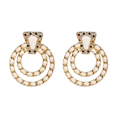 Check Out This Women's Vintage Retro Bohemian Circle Knot Earrings Jewelry Gifts for Party/Bridal/Bi...