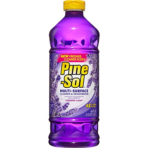 Pine-Sol All Purpose Multi-Surface Cleaner, Lavender Clean, 48 Ounces (Package May Vary)