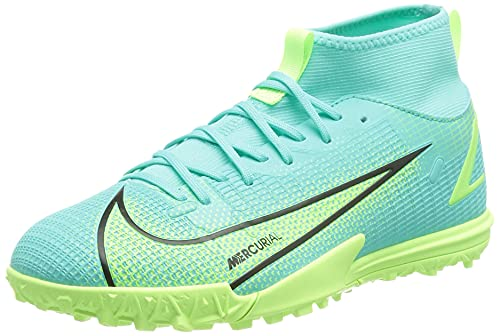 Nike JR Superfly 8 Academy TF, Scarpe da Calcio, Dynamic Turq/Lime Glow-off Noir, 36 EU
