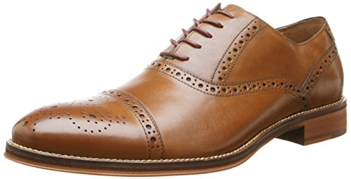 Johnston & Murphy Men's Conard Cap Toe|Hand-Burnished Leather|Rubber Sole