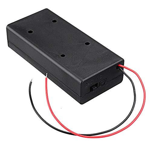Módulo electrónico 18650 Caja de soporte de la batería recargable batería de la placa con el interruptor de baterías 2x18650 kit DIY de caso 10pcs Equipo electrónico de alta precisión