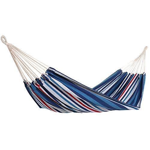 Detex Hamaca de algodón Azul Carga máx de 300 kg para 2 Personas 320 x 150 cm para su jardín terraza Camping Exterior