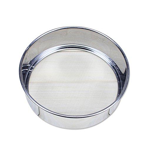 Appareils ménagers pour la cuisine ronde tamis farine Pot en acier inoxydable