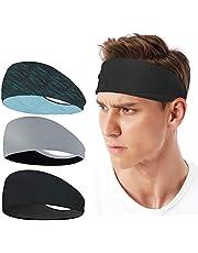 LATTCURE Sporthoofdband, hoofdband, 3 stuks, zweetband, hoofdband, antislip, voor joggen, hardlopen, wandelen, fietsen en motorrijden