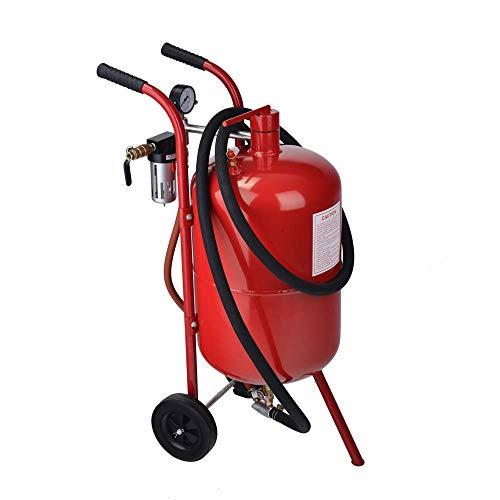 Mini 10 Gallon Portable Air Sandblaster Sand Blaster Kit High Pressure Tank Red