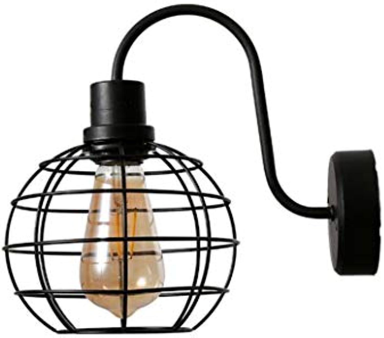 Modernes Retro-Design Wandlicht E27 Wandleuchte Schwarz Eisenkunst Wandlaternen Flur Wohnzimmer Dachboden dekorative Lichter (Leuchtmittel nicht inklusive)