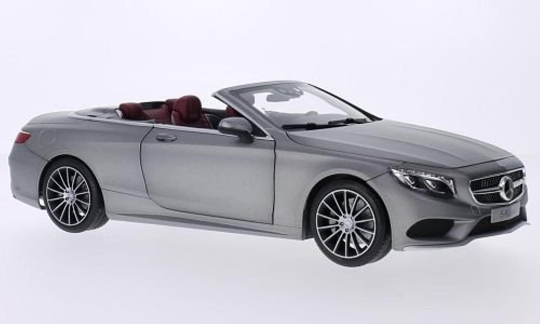 Mercedes S-Klasse Cabriolet (A127), silber, Modellauto, Fertigmodell, I-Norev 1 18