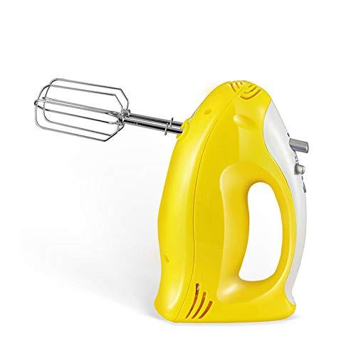 CHQQI Egg Beater Electric Edelstahl Mit 7-Gang- Oder Höherer Geschwindigkeitsregelung,Milchaufschäumer Caso Elektrischer Milchkännchen,Quirler Elektrisch Backwerkzeug Gelb