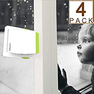 4 Pack Sliding Glass Door Locks for Child Safety, Baby Proof Closets, Sliding Window Locks, with Strong Adhesive Tape, No Screws or Drills, Easy Clean