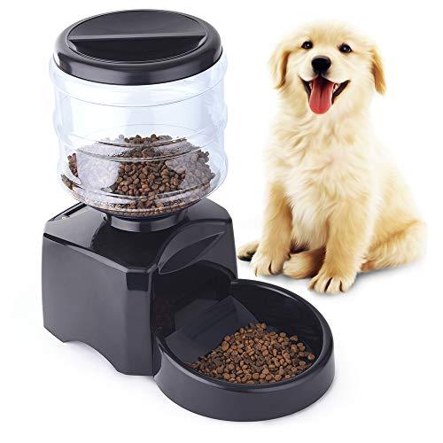 PetInn Automatischer Futterautomat für Katze und Hund,Futterspender mit Timer LCD Display und Sprachaufzeichnung