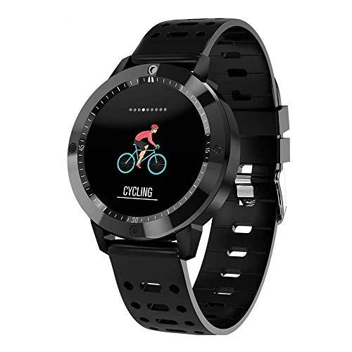 Meyeye horloge, smartwatch, IP67, activiteit, van gehard glas, waterdicht, fitnesstracker, hartslagmonitor, sport, mannen, smart-armband, chip-armband (kleur: zwart), Zwart