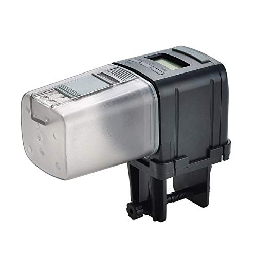 Lychee Alimentador Automático de Peces,175ML Multifuncional Comedero Peces Automático con Pantalla LCD...