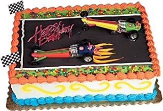 Oasis Supply Dragster Rail Cars Racing Cake Decorating Topper Kit