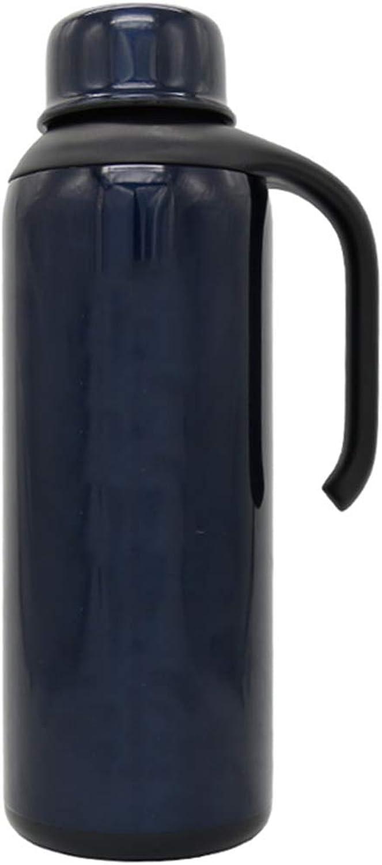 FYCZ Pot D'Isolation, 2.1L Voyage Extérieur Portatif Pour Hommes Et Femmes de Grande Capacité En Acier Inoxydable Thermos H4 (Couleur   Bleu)