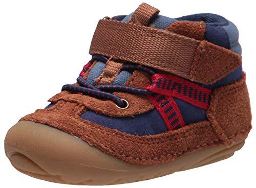 Stride Rite Girls Soft Motion Atticus Fashion Boot, BROWN NAVY, 6 Wide Toddler