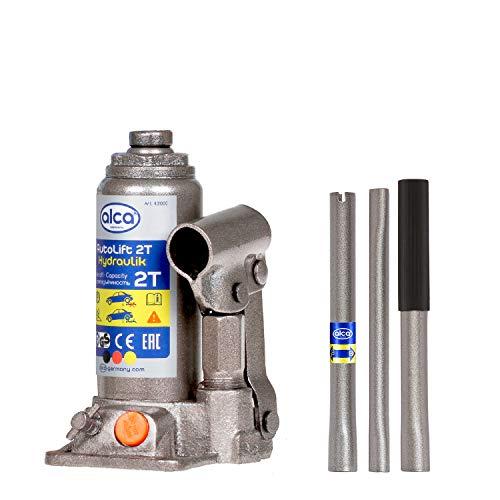 alca® Unterstellheber hydraulisch Wagenheber 2t Stempel-Wagenheber für PKW Hubhöhe 15,8-30,8cm