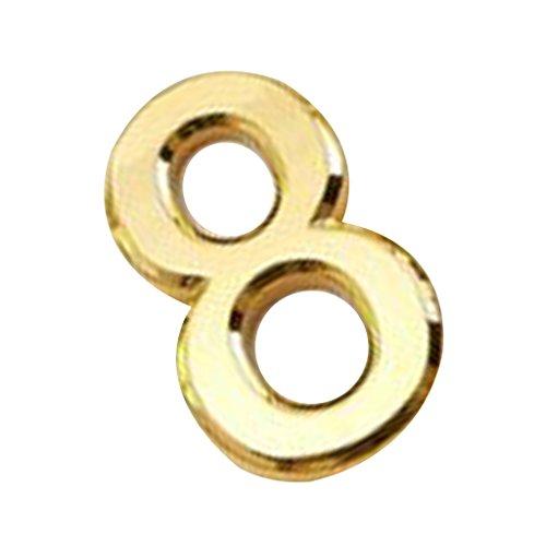 Generic Kunststoff Nummer Selbstklebend Haus Hotel Tür Sticky Digit Wanddekor - Gold 8