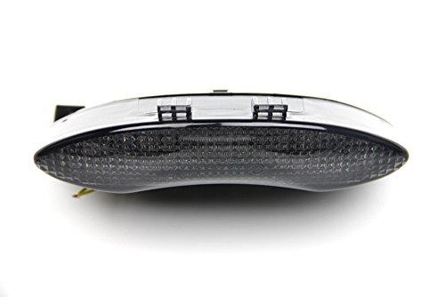 Luces de freno LED con intermitentes integrados para Triumph 675 Speed Street Triple (Tintado)