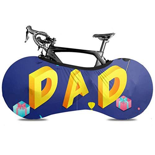 YUXB Fahrrad Radabdeckung 3D Text Papa Geschenkboxen Auf Anti-Staub-Bike Indoor Aufbewahrungstasche Kratzfest, Waschbar Hochelastische Reifen Paket Straße MTB Protecti