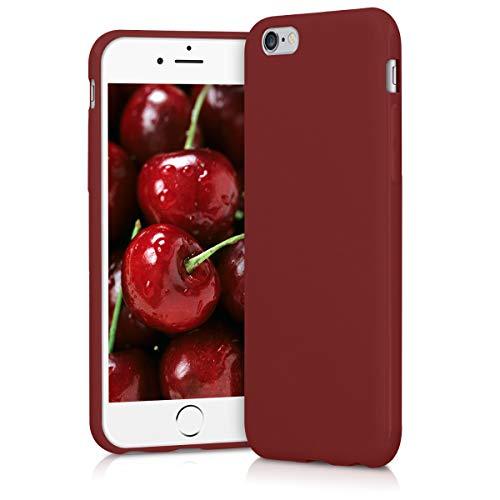 kwmobile Cover Compatibile con Apple iPhone 6 / 6S - Custodia in Silicone TPU - Backcover Protezione Posteriore- Rosso Matt