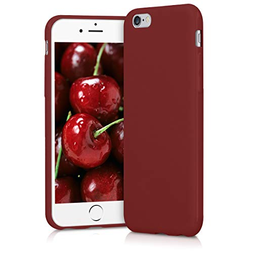 kwmobile Cover compatibile con Apple iPhone 6 / 6S - Custodia in silicone TPU - Backcover protezione posteriore- rosso matt