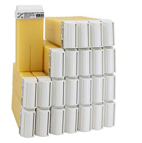 EpilWax Lot de 24 Cartouches de Cire Roll-On à la Vanille pour Épilation - 100 ml