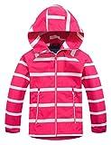 Echinodon, giacca imbottita per bambini, impermeabile, antivento, per attività all'aria aperta, per ragazzi e ragazze, giacca da escursionismo Colore: rosa. 146-152 cm
