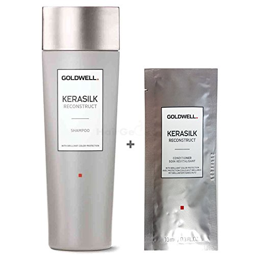 Goldwell Kerasilk Reconstruct Set - Shampoo 250ml + Conditioner Sachet 10ml